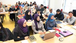 Lecture at the Centre for Islamic Theology in Tubingen (photo: imago/epd)