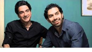 Homayoun Shajarian and Sohrab Pournazeri (source: YouTube)