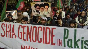 Shia Muslims protest in Pakistan following a terrorist attack in Lahore on 22 January 2014 which killed 24 Shia pilgrims (photo: AFP/Getty Images)