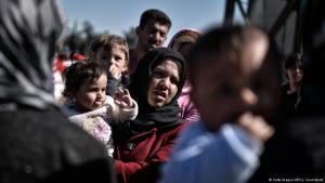 Refugees at the Macedonian border (photo: Getty Images/AFP/L. Gouliamaki)