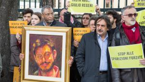 Protests in Rome following the torture and murder of Regeni (photo: picture-alliance/dpa/D. Fracassi)