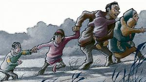 Illustration from Kirsten Boie′s ″Bestimmt wird alles gut″ (photo: Jan Birck, Klett Kinderbuch)