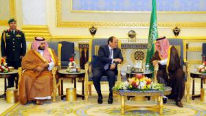Egyptian President Al-Sisi visiting the Saudi King Salman in Riyadh (photo: picture-alliance/epa/Egyptian Presidency)