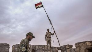 Syrian soldiers retake the citadel at Palmyra (photo: picture-alliance/dpa/TASS/V. Sharifulin)