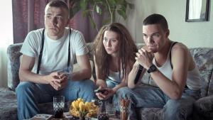 Scene from the ARD mini-series ″Mitten in Deutschland: NSU″: (from left to right) Uwe Mundlos (Albrecht Schuch), Beate Zschape (Anna Maria Muhe) and Uwe Bohnhardt (Sebastian Urzendowsky)