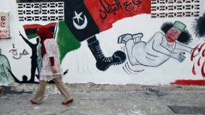 Mural on a facade in Tripoli (photo: AP)