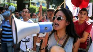 Demonstrating against corruption and cronyism in Tunis (photo: picture-alliance/dpa/M. Messara)