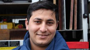 Emdadullah Mohammand, a refugee from Afghanistan in Germany