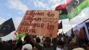 Libyans protesting about UN candidate recommendations for the unity government in Benghazi (photo: Reuters/E.O. Al-Fetori)