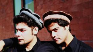Pashtun musician Ismail Khan (left) with former band colleague Junaid (photo: private)