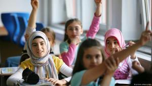 Stock image of primary school children