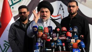 Shia cleric Muqtada al-Sadr (photo: picture-alliance/dpa/K. Kadim)