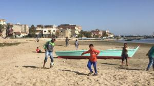 Most of the inhabitants of Borg Meghezel depend on people-smuggling to make a living (photo: Karim E-Gawhary)