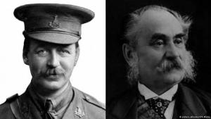 Colonel Mark Sykes (left) was a member of Britain's Conservative Party; Francois Georges-Picot (right) was a French diplomat