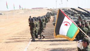 Armed Polisario fighters in Tindouf refugee camp, southern Algeria (photo: DW/Nour Elhayet El Kebir)