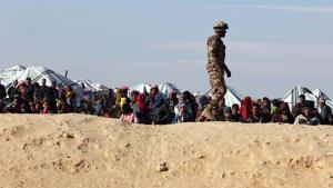 Syrian refugees at the north-eastern Jordanian border with Syria near Royashed Town, January 2016 (photo: picture-alliance/dpa)