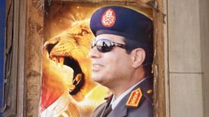 Election poster for Abdul Fattah al-Sisi in Cairo (photo: Arian Fariborz)