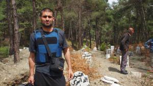 Nagieb Khaja in Idlib, Syria (photo: Nagieb Khaja)
