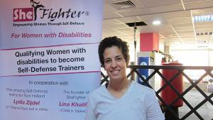 Lina Khalifeh from the Jordanian ″Shefighter″ martial arts initiative (photo: Claudia Mende)