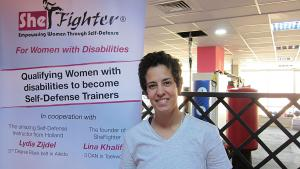 Lina Khalifeh from the Jordanian ″Shefighter″ martial arts initiative (photo: Claudia Mende)