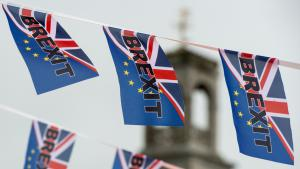 Brexit flags in Ramsgate (photo: Getty Images/AFP/C. J. Ratcliffe)