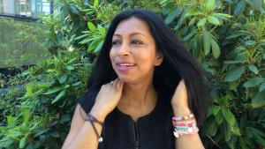 Author Shumona Sinha, winner of the International Literature Prize (photo: DW/S. Peschel)