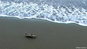 "One scene from Abbas Kiarostami′s minimalist film ""Five"", made in 2003, shows a piece of wood on the beach, worn away by salt water, gradually breaking into two pieces"