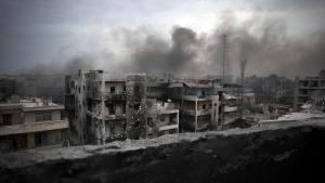 Aleppo lies in ruins (photo: picture-alliance/AP-Photo/M. Brabo)
