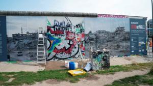 "View of the exhibition ""War on Wall"", West Side Gallery, Berlin (photo: Kai Wiedenhofer)"