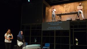 Laila Soliman′s documentary piece ″Zig Zig″ (photo: Christian Altdorfer/Ruud Gielens)