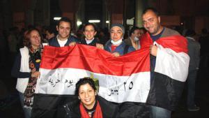 Egyptian democracy activists on Tahrir Square in Cairo, December 2011 (photo: DW/Hebatallah Ismail Hafez)