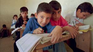 Primary school children in Baghdad, 1995