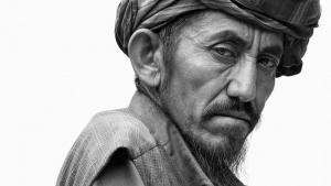 The many faces of Mazar-i-Sharif: this old man is one of more than 100 Afghans that German photographer Jens Umbach has captured during his visits to the northern city of Mazar-i-Sharif
