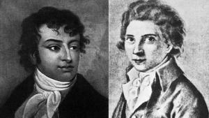The brothers August Wilhelm Schlegel (left) and Karl Wihelm Friedrich Schlegel (source: Wikipedia)