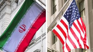 Symbolic image of the flags of Iran and the USA (photo: Colourbox/Getty Images)