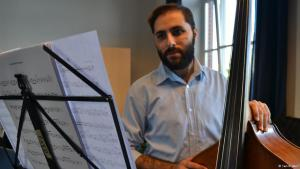 Syrian musician Raed Jazbeh (photo: Samih Amiri)