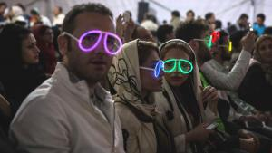 Iranians at a rock concert on Kish Island, Iran (photo: Mehr)