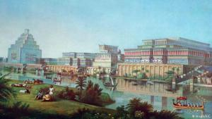 First cities: humanity′s first cities were founded on the banks of Euphrates and Tigris Rivers around 6,000 years ago. Over three millennia, the Mesopotamian civilisation developed into a dense network of cities, eventually giving rise to veritable urban centres like Babylon and Nineveh, the latter reconstructed here in an illustration