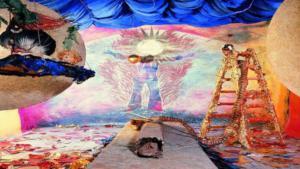 "Michael Buthe's ""Sun Room"" installation, 1976. Musee du Echnaton (source:: VG Bild-Kunst)"