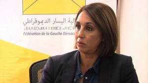 Nabila Mounib, leader of the PSU (source: youtube)