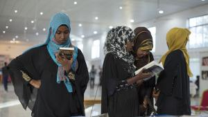 Visitors to the Hargeisa Book Fair in Somaliland (photo: Kate Stanworth)