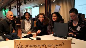Delegates at the New German Media Makers National Congress (source: http://www.neuemedienmacher.de)