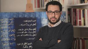 Syrian writer and poet Ra′id Wahsh (photo: Salama Abdo)