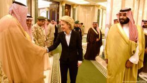 German Minister of Defence Ursula von der Leyen visiting Saudi Deputy Prince Mohammed bin Salman al-Saud in Riyadh (photo: dpa/Rainer Jensen)