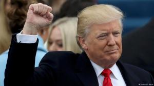 Donald Trump at his inauguration on 20 January 2017 (photo: Reuters)