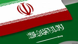 National flags of Iran and Saudi Arabia (source: DW)