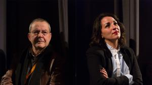 "Director of ""Tahqiq fel djenna"" Merzak Allouache and lead Salima Abada (source: Internationale Filmfestspiele Berlin)"