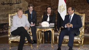 German Chancellor Angela Merkel visiting Egyptian President Al-Sisi in Ittihadiya Palace in Cairo on 02.03.2017 (photo: picture-alliance/dpa)