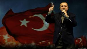 Turkish President Recep Tayyip Erdogan giving a speech on 5 March 2017 (photo: Reuters)