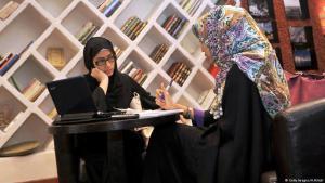 Women in a book cafe in Jeddah, Saudi Arabia (photo: Getty Images/A. Hilbai)